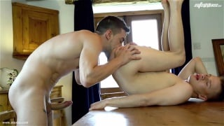 spanish hunk fucking polish stud in the kitchen