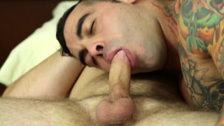 muscle hunk rides the boss' cock