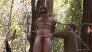 christian wilde begs to cum in the woods