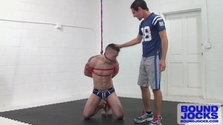 tyler rush tied up and on his knees