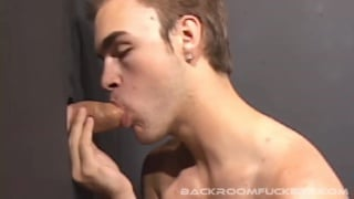jasper fills blond bottom at glory hole