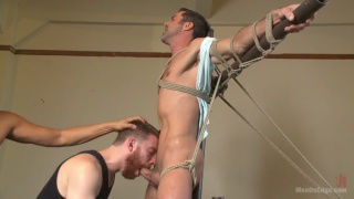 justin beal get cock edged and shoots giant load