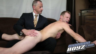 mormon bad boy gets spanked by the bishop