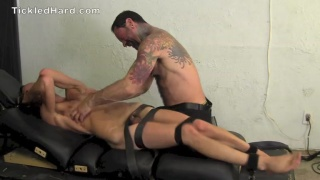 alex gets strapped down and tickled