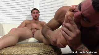 ricky larking sucks Connor Maguire's toes