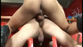 brazilian bottom rides his buddy's cock