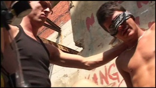 bound, blindfolded and cock pumped