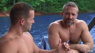 daddy Dirk Caber fucks his buddy's son Luke Adams