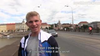 czech hunter picks up a hot blond guy