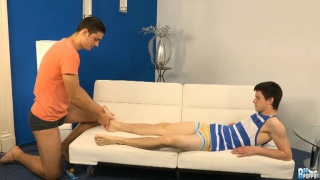 tono turns a foot massage into an ass pounding