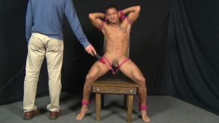 asian sub forced to fuck his own ass