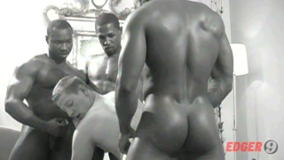 Black muscle hunks fuck white mans tight ass