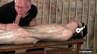 edwin wrapped in plastic and cock edged