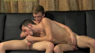 JC's first time sucking dick and barebacking ass