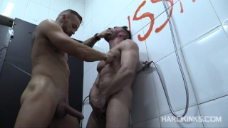 shower domination scene