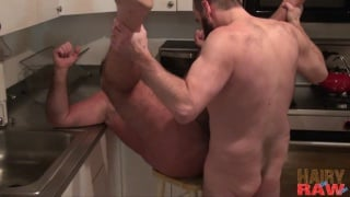 bear men bare fucking in the kitchen