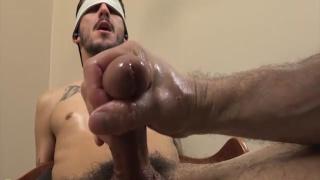 blindfolded devin gets head
