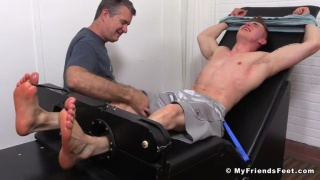 jake west restrained in the tickling chair