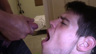 cum whore swallows load after load
