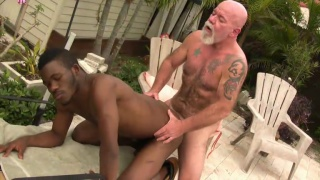 black guy zion bottoms for a gruff daddy