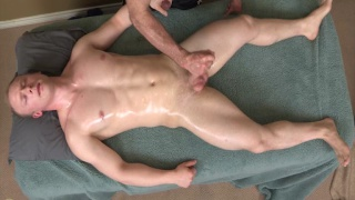 blond stud gets his cock and ass serviced