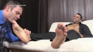 cameron kincade worshiping cash's bare feet