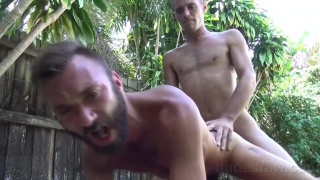 bearded bottom screwed raw outdoors