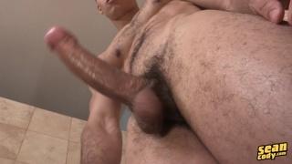 cailean strokes his long dick