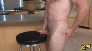 theo cums on a bar stool