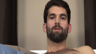 sexy bearded dude jerks off