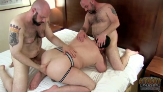 daddy bear & two buds make a sex tape