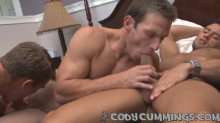Cody's first all-male threesome