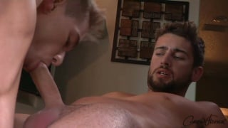 zeb services connor's big dick with his mouth and ass