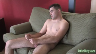 good-looking adam jacking his cock