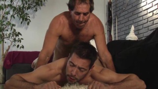 older daddy in suit fucks his furry boy