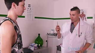 french twink services his doctor in the exam room