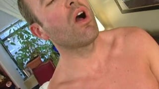 bearded man gets his dick sucked