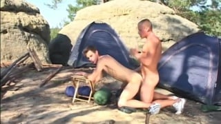 guys camping and fucking in Northern Bohemia