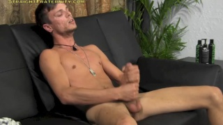 furry-faced zach dildo fucking and stroking