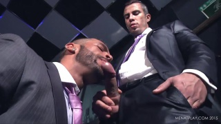 two gamblers in suits fuck