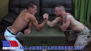 Sergeant Miles rides buddy's thick uncut dick