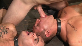 christian wilde works over two slaves at once