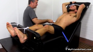 silas is strapped down and tickled