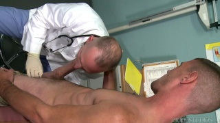 doctor can't believe how big his patient's cock is