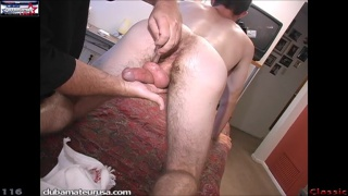 masseur plays with shayne's cock and ass