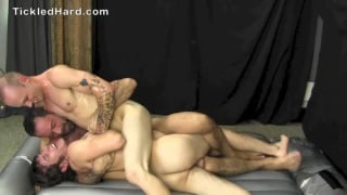 marc and nate in slippery tickle session with franco