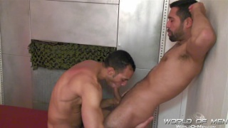 billy gets blowjob in bathhouse