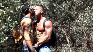 spanish stud fucks hitchhiker in bush