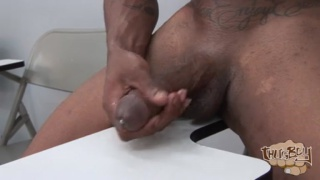 anthony plays with his meaty foreskin dick