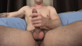 roderick's earning cash stroking his cock